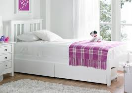 White Wood Single Bed Frame Malmo White Wooden Bed Frame Painted Wood Wooden Beds Beds