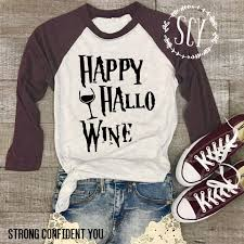 happy hallo wine baseball style shirt halloween baseball