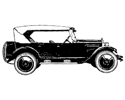old cars black and white fashioned cars clipart
