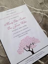 cherry blossom wedding invitations cherry blossoms wedding cherry blossom tree wedding invitation
