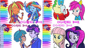 my little pony color book my little pony color swap coloring book rainbow dash fluttershy