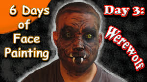 easymeworld halloween werewolf face painting tutorial