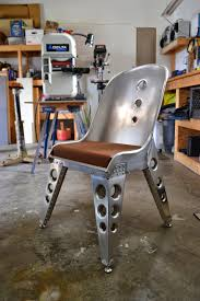 aviation decor home aviation inspired aluminum riveted bomber seat chair furniture