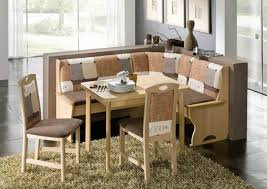 Corner Furniture Ideas Dining Room Solid And Veneer Wood Corner Breakfast Nook Set For