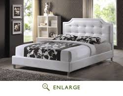 Upholstered Headboard King with Studio Bbt6376 White King Carlotta White Modern Bed With