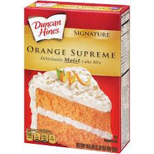 duncan hines moist deluxe orange supreme cake mix 18 25 oz