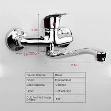 wall mount kitchen faucet single handle single handle two holes wall mounted kitchen faucet