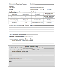 work request form 35 designing a preventive maintenance 11