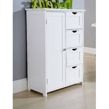 Bathroom Freestanding Cabinet Free Standing Bathroom Cabinets U0026 Shelving Wayfair Co Uk