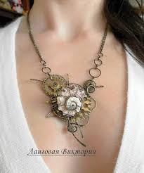 steampunk pendant necklace images Steampunk necklace steampunk pendant jewelry wire wrapped etsy jpg