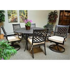Hampton Bay Woodbury 7 Piece Patio Dining Set - patio dining sets for 12 example pixelmari com