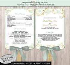 Wedding Program Paddle Fan Template Wedding Fan Program Template Printable Coral By Pixelromance4ever