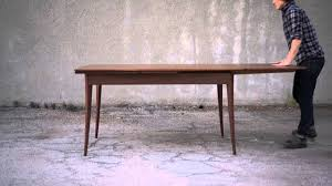 dutch pull out table walnut dutch pullout dining table youtube