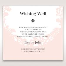 gift card registry wedding wedding information wording exle wedding ideas