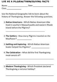 4th grade thanksgiving pilgrim web quest and essay by joanna
