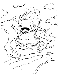 magical tale of a boy and his goldfish ponyo 17 ponyo coloring