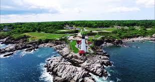 portland head light lighthouse portland head light lighthouse maine drone aerial photography