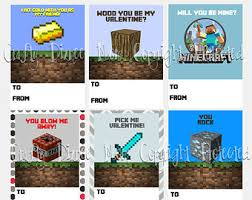 minecraft valentines cards 7 best images of printable minecraft s cards minecraft