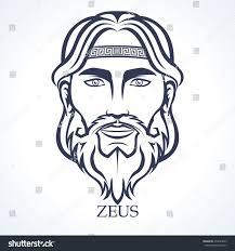 zeus ancient greek god supreme god stock vector 274839695