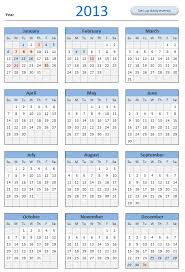 9 best images of 2013 calendar printable full page full year