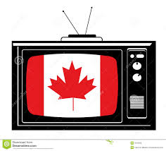 retro tv with canada flag royalty free stock image image 5610006