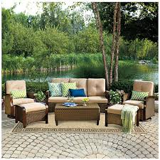 wilson fisher tuscany resin wicker 6 piece seating set at big