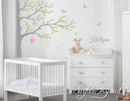 large nursery wall decals nursery wall decals stickers large corner tree with custom name