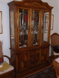 terrific stanley chinese cabinet and hutch with three glass door