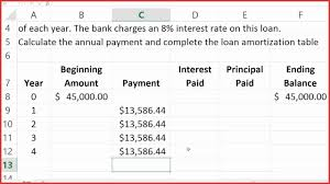 awesome amortization formula in excel resume for a job