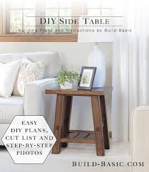 Make A Cheap End Table by How To Make A Side Table Out Of Wood Outdoor Patio Tables Ideas