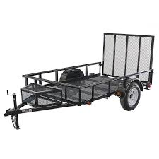 shop carry on trailer 5 5 ft x 9 ft wire mesh utility trailer with