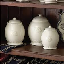 pottery kitchen canister sets country kitchen levingston canister set