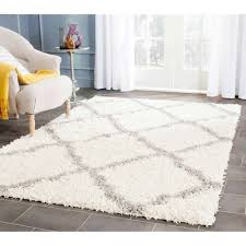 Modern Shag Area Rugs Living Room Shag Area Rugs With Grey Ceramic Floor And White