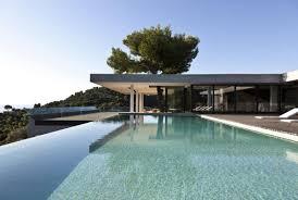 natural modern design of the hill villa external design that can