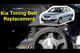 kia rio timing belt replacement 1 6l i4 16 valve auto repair