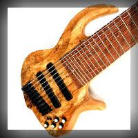 9 string fanned fret custom shop basses options and prices