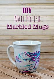 decorate your own tea cup diy nail marbled mugs craft thrifty jinxy