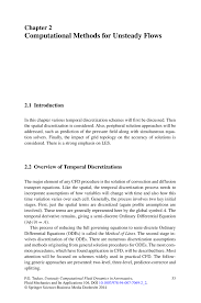 computational methods for unsteady flows springer