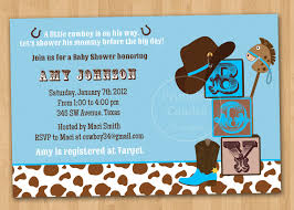little cowboy baby shower invitation custom printable 10 00