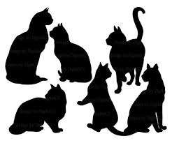164 Best Silhouettes Cat Silhouettes Images On Pinterest Cat