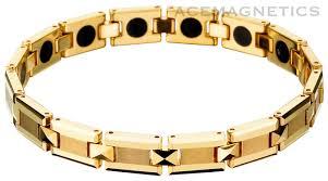 magnetic bracelet gold plated images Tungsten carbide magnetic bracelets