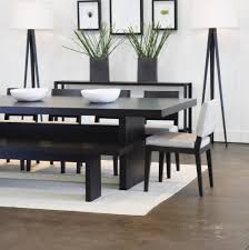 Dining Room Bench Seat Dining Room Black Dining Room Bench In Modern Themed Dining