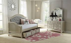 imogen twin upholstered daybed silver