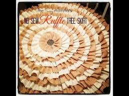 diy no sew ruffle tree skirt easy