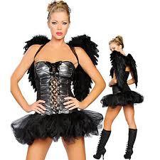 Fallen Angel Halloween Costume Saucy Dark Halloween Angel Costume Dress Black Feather