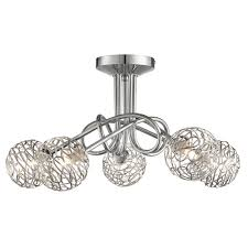 kesha 5 light semi flush ceiling light pagazzi lighting