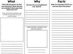 brochure templates for school project nonfiction writing for 2nd grade biographies lab reports 2nd