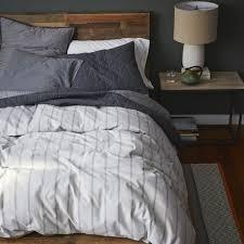 flannelette stripe quilt cover pillowcases west elm au