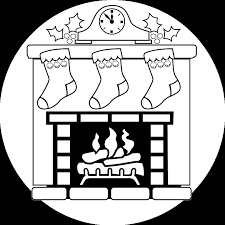 christmas stocking coloring pages mantle clock fireplace stockings coloring sheet christmas