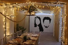 Restaurant String Lights by Cecile And Faysal U0027s Diy Wedding At Home